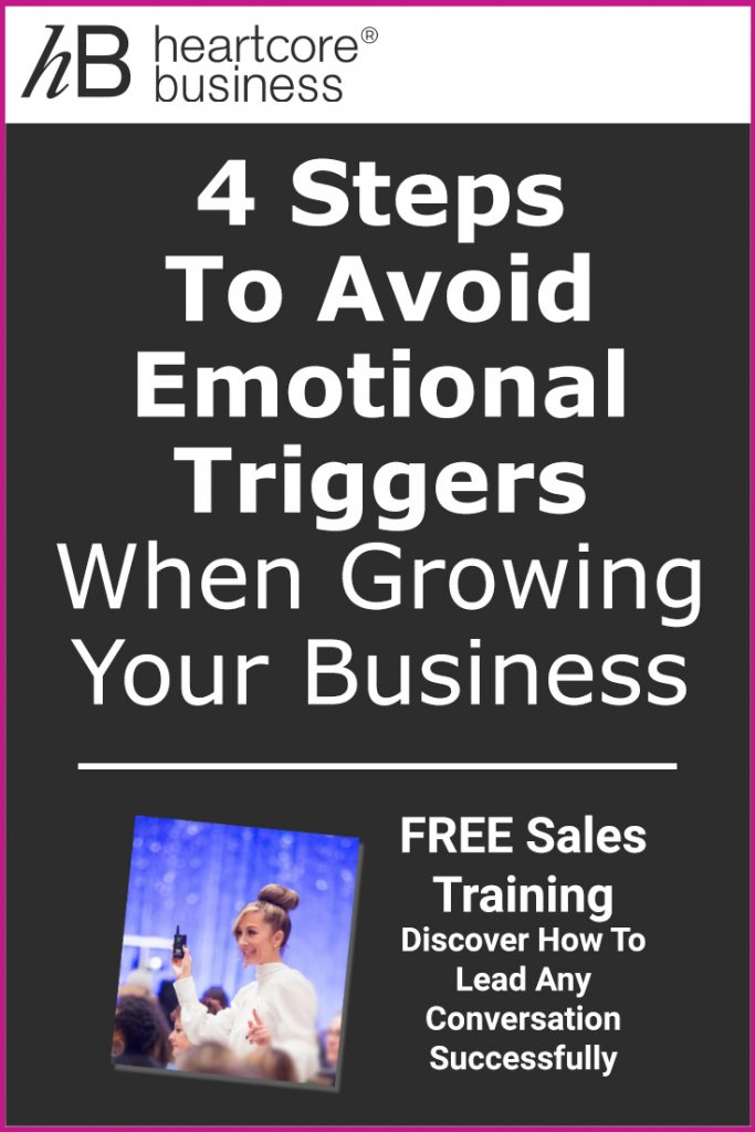 In business, things don't always go according to plan. As an entrepreneur, the way you handle the unexpected plays a huge role in how successful you'll be. I'll tell you 4 Steps to Avoid Emotional Triggers When Growing Your Business! Re-pin and join my FREE training on how you can convert Conversations into Cash! #heartcorebusiness #businessempire #entrepreneur #coaching #onlinebusiness #businesscoach