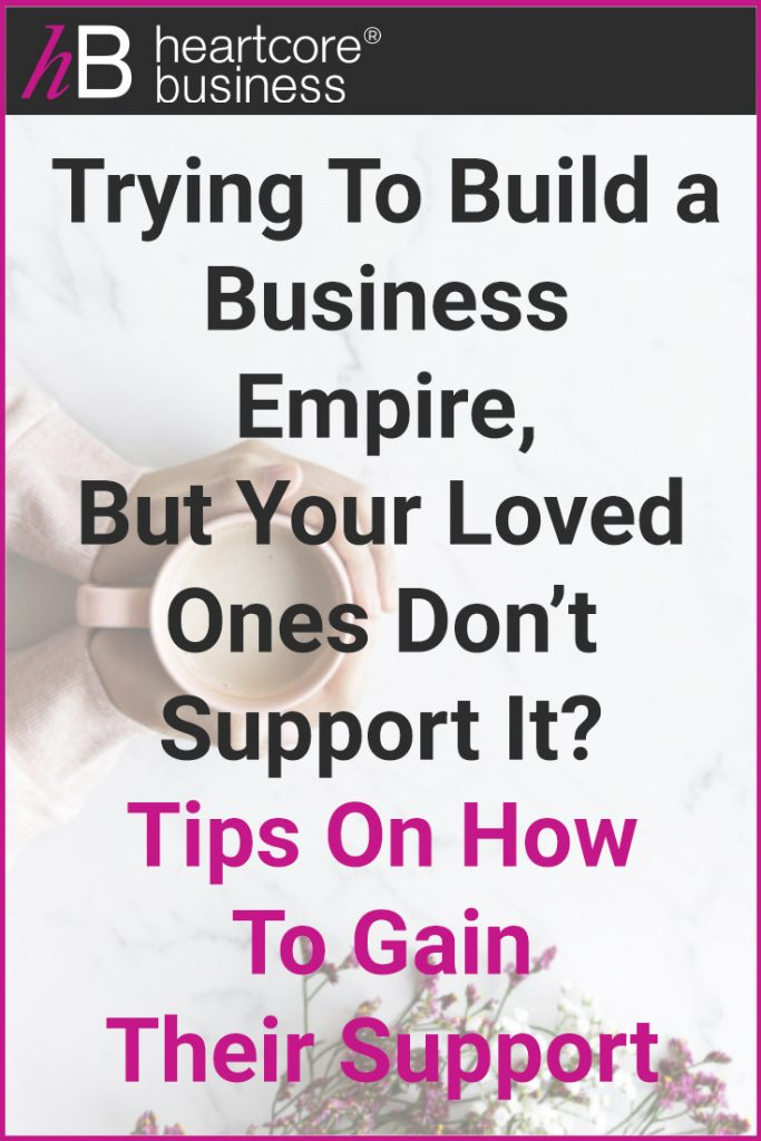 Trying to build a business empire, but your loved ones don't support it? When you have the drive to create a RESULT in your life, how do you go after it and at the same time allow yourself the space to not upset the people you love? I'll share some tips on how to gain the support of your loved ones. #heartcorebusiness #businessempire #entrepreneur #coaching